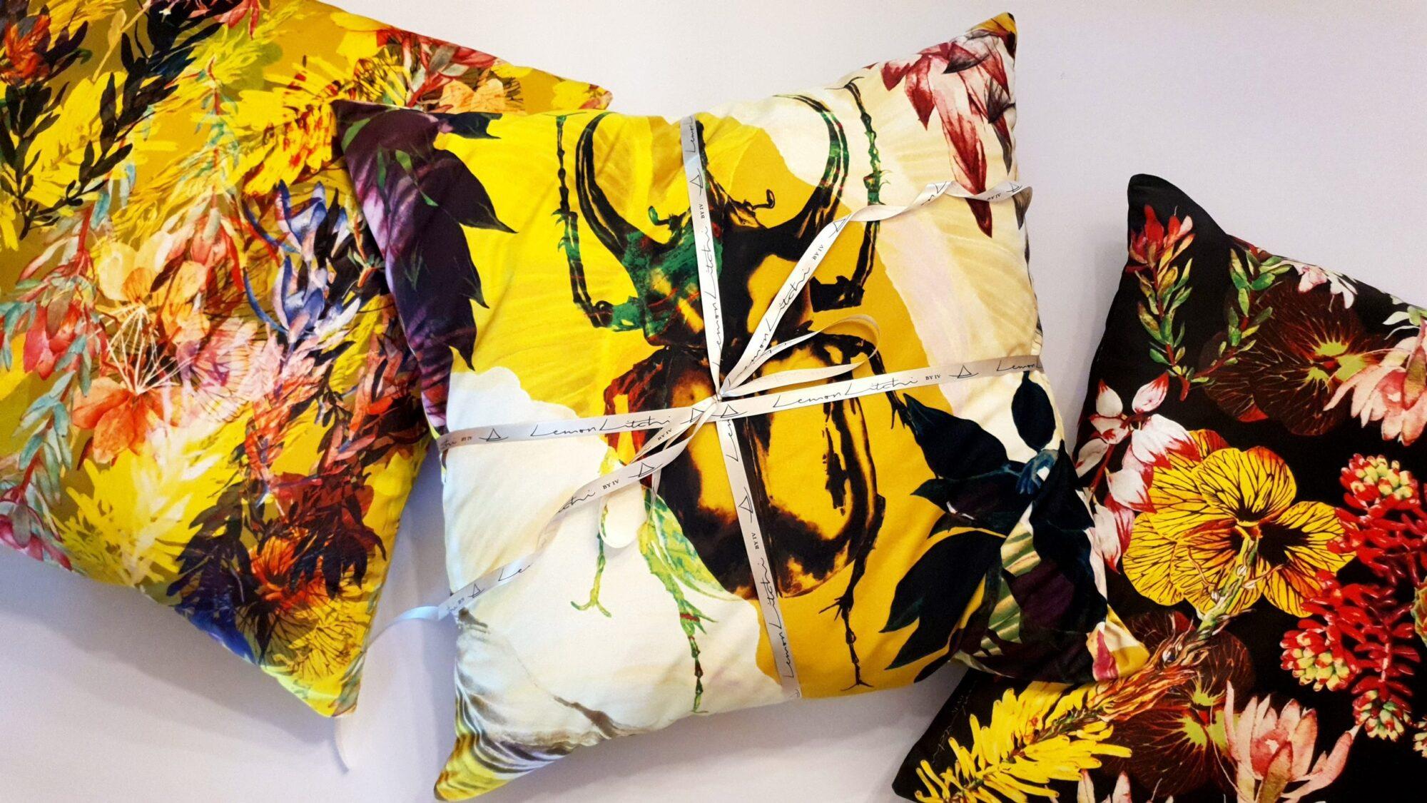Entomon Cotton Scatter Cushion| IV Fashion Design