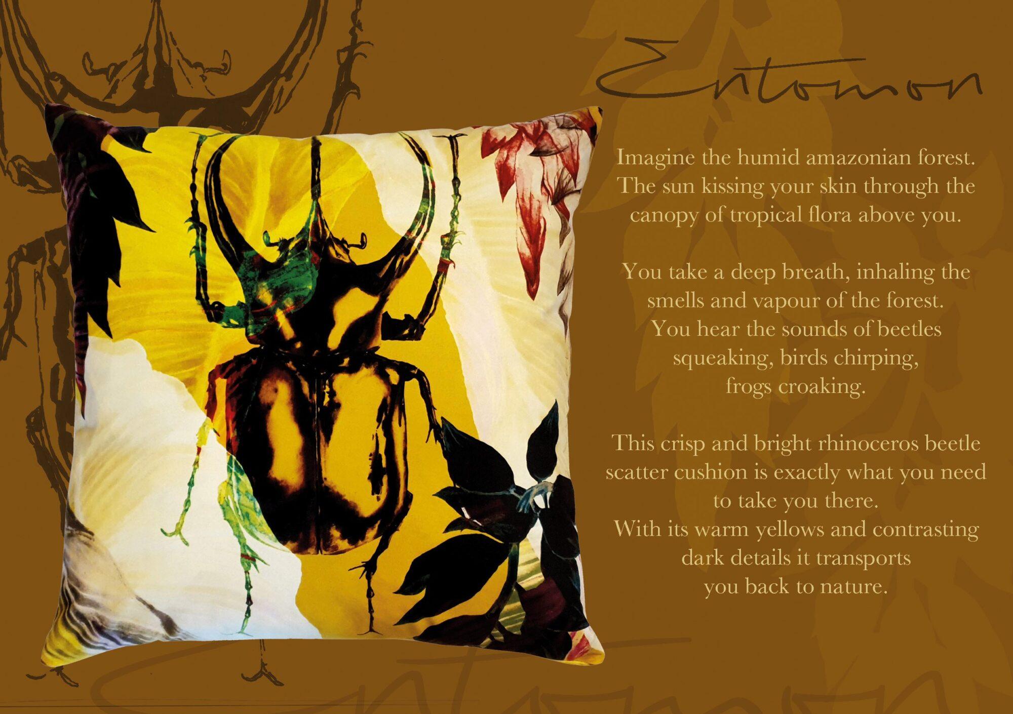 Entomon Scatter Cushion | IV Fashion Design