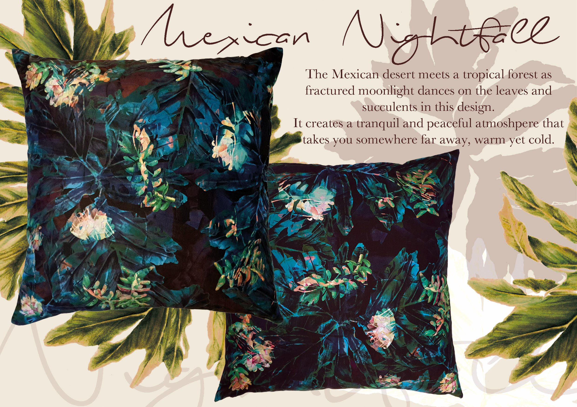 Mexican Nightfall Scatter Cushion| IV Fashion Design