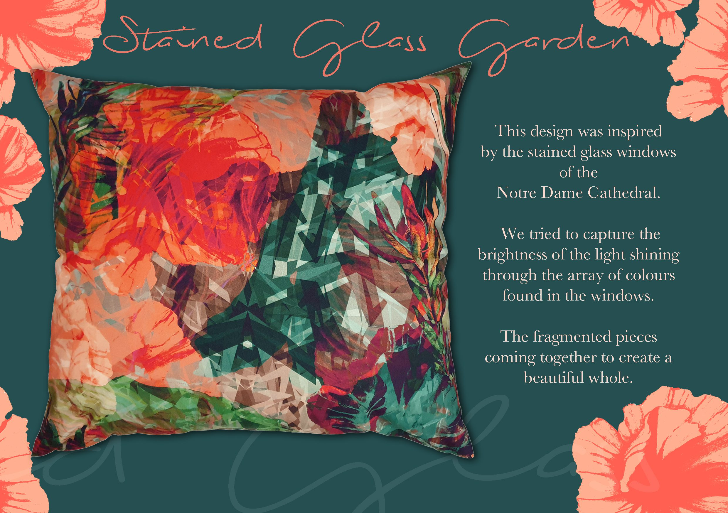 Stained Glass Garden Scatter Cushion | IV Fashion Design