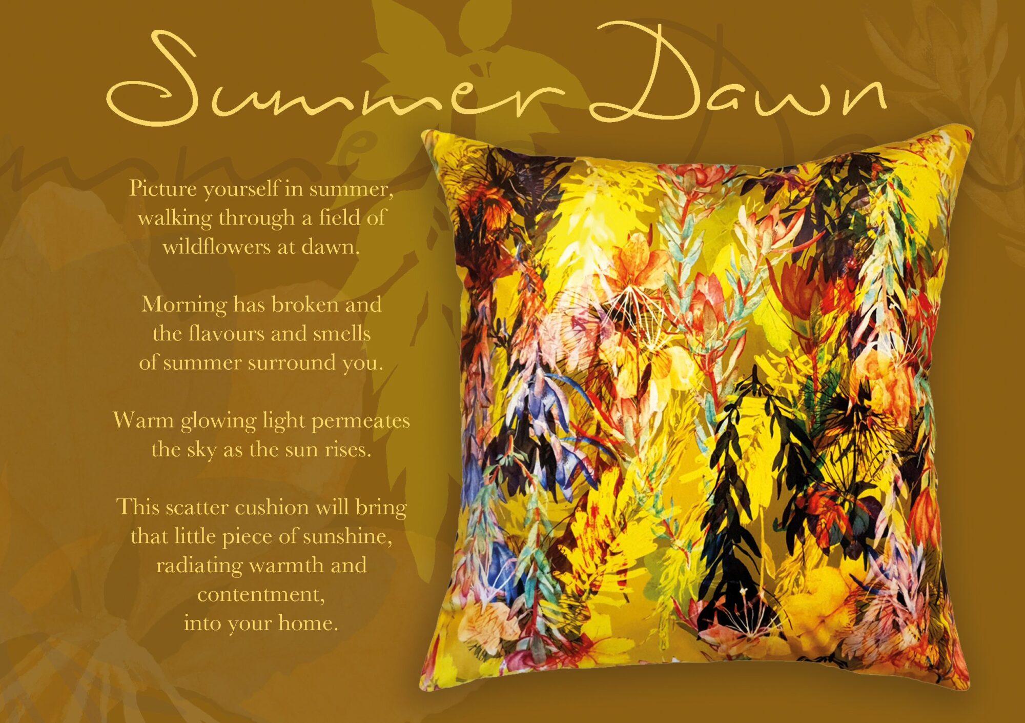 Summer dawn Scatter Cushion | IV Fashion Design